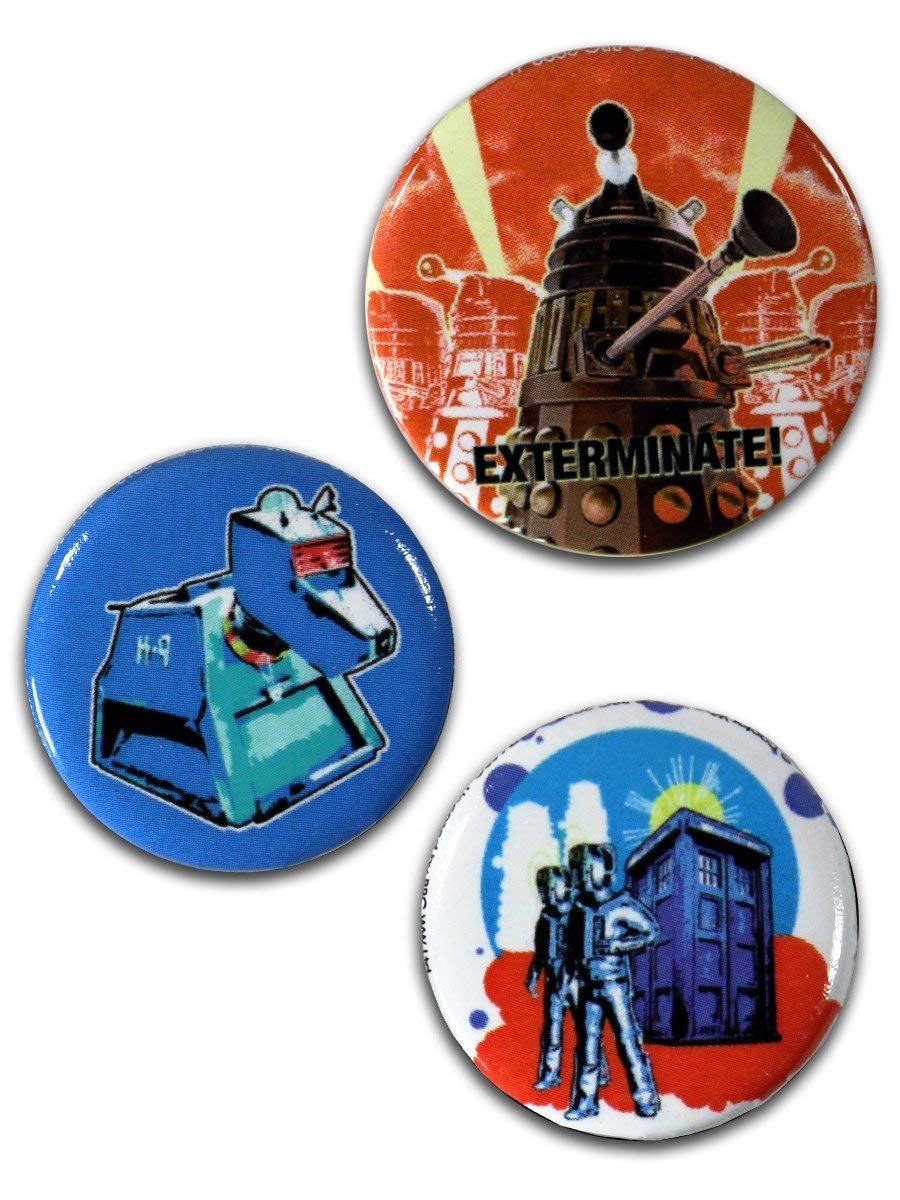 Spille - Badge - Doctor Who - Retro