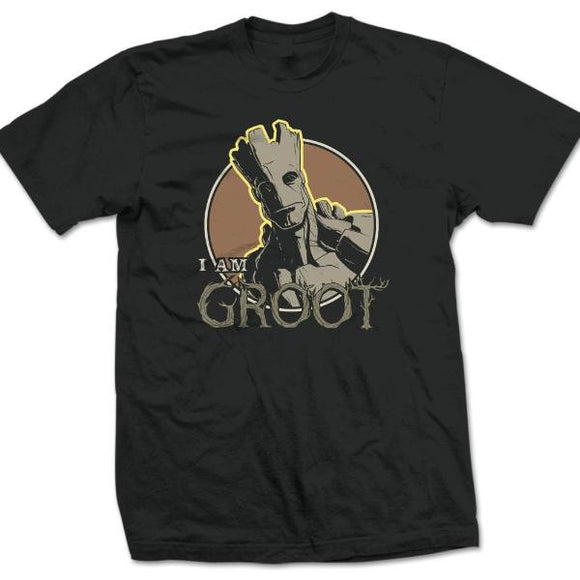 T-Shirt - Guardians Of The Galaxy - Groot Nero