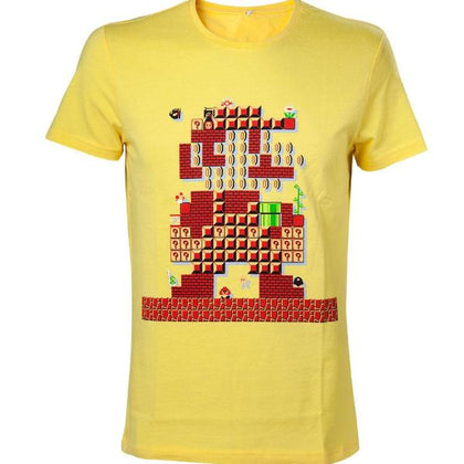 T-Shirt - Nintendo - Yellow Mario Maker