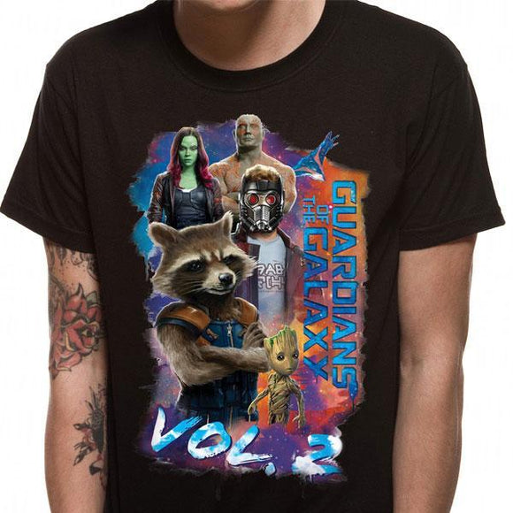 T-Shirt - Guardians Of The Galaxy 2 - Group Pose