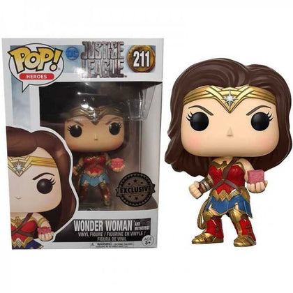 FUNKO POP - JUSTICE LEAGUE - WONDER WOMAN AND MOTHERBOX (211)