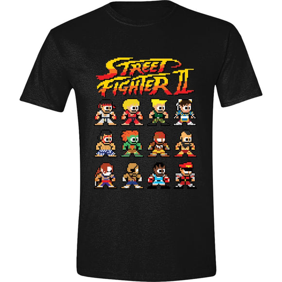 T-Shirt - Street Fighter II - Characters Black