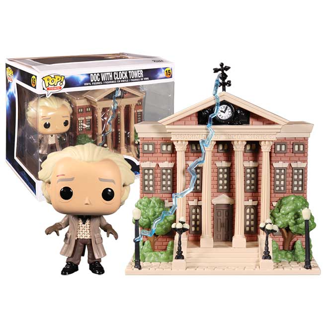 FUNKO POP - BACK TO THE  FUTURE - DOC WITH CLOCK TOWER (15)