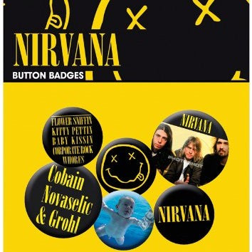 Spille - Badge - Nirvana - Smiley