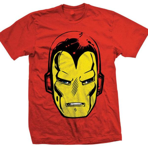 T-Shirt - Iron Man - Marvel - Head Rosso
