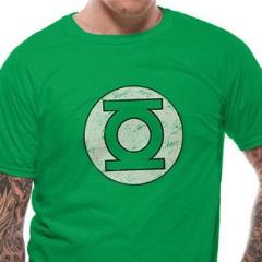T-Shirt - Green Lantern -  Dc Comics - Distressed Logo