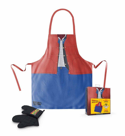 Grembiule - Back To The Future - Marty Apron And Oven Glove In Plastic Box