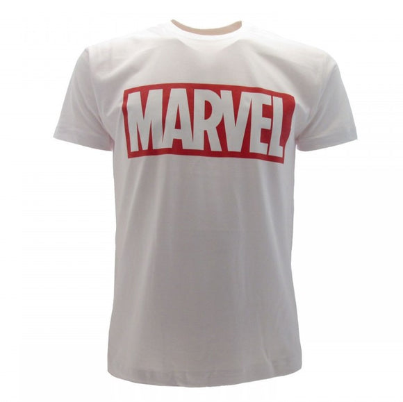 T-Shirt - Marvel - Logo White