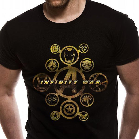 T-Shirt - Marvel - Infinity War - Character Icons