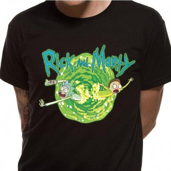 T-Shirt - Rick & Morty - Black Portal
