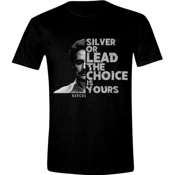 T-Shirt - Narcos - Silver Or Lead