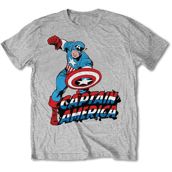 T-Shirt - Captain America - Marvel - Simple Grey