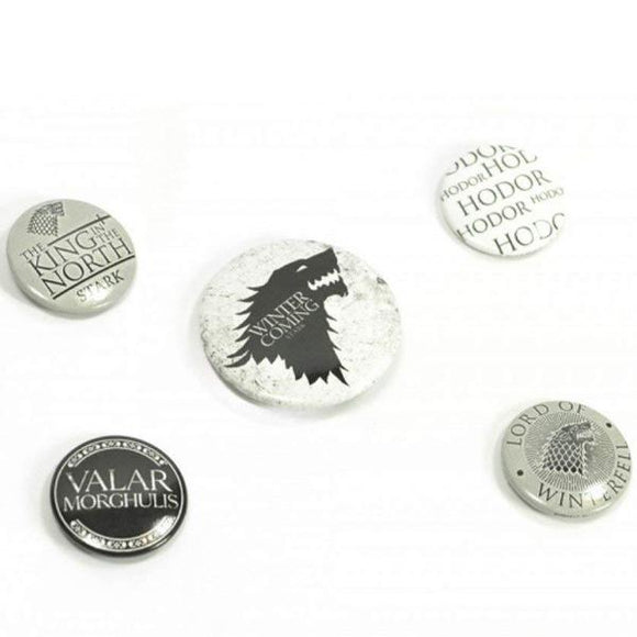 Spille - Badge - Game Of Thrones - Winter Is Coming (Stark)