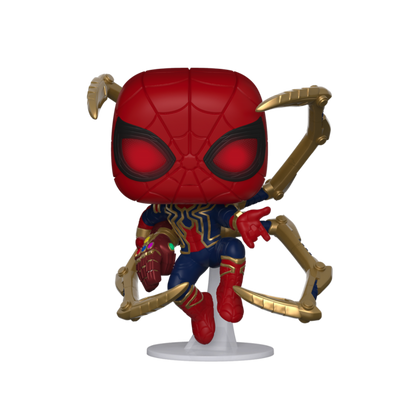 FUNKO POP - MARVEL - AVENGERS ENDGAME - 574 IRON SPIDER W/ NANO GAUNTLET 9CM
