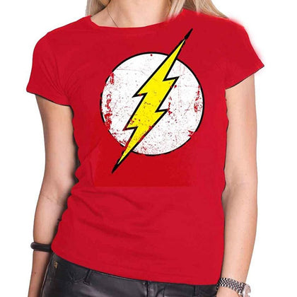 T-Shirt - Flash - Dc Comics - Logo Distressed