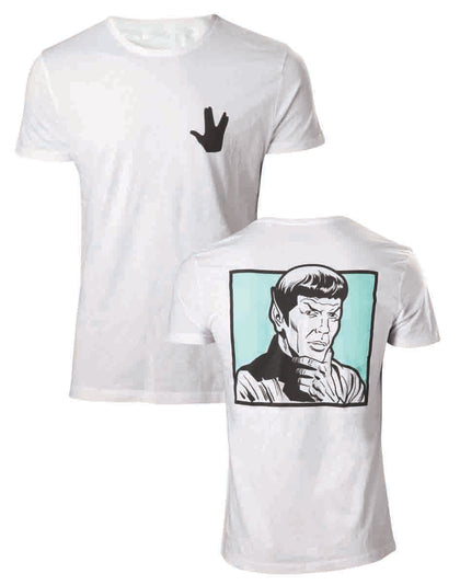 T-Shirt - Star Trek - Spock Your Logic Is Questionable White