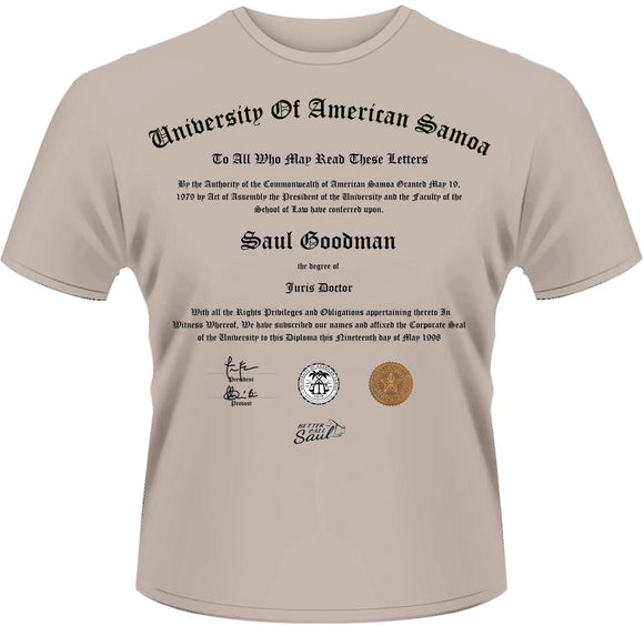 T-Shirt - Better Call Saul - University Certificate