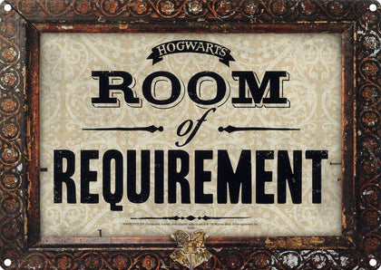 Targa Metallica - Harry Potter - Room Of Requirement
