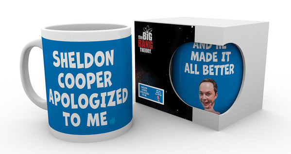 Tazza - Big Bang Theory - Sheldon Cooper Apologised