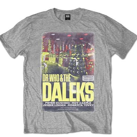 T-Shirt - Doctor Who - Daleks Grey