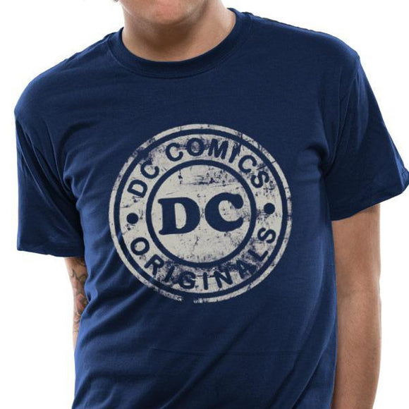 T-Shirt - Dc Originals - Vintage Logo Navy