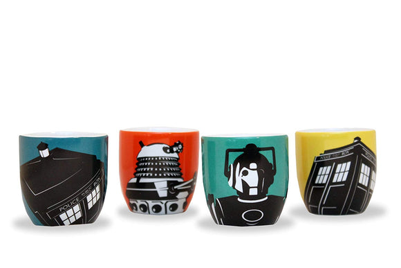 Cucina - Set 4 Portauovo - Doctor Who - Assorted Designs