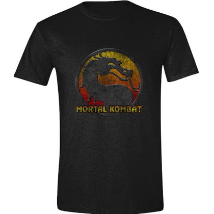 T-Shirt - Mortal Kombat - Retro Distressed Logo