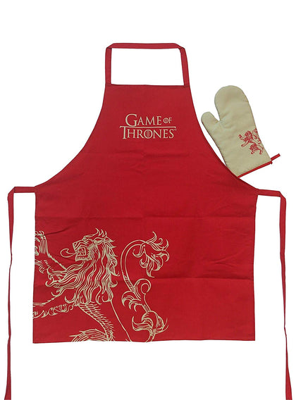 Cucina - Set Grembiule E Guanto - Game Of Thrones - Lannister