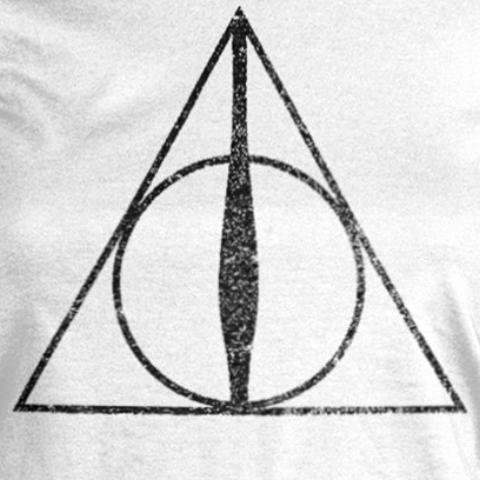 T-Shirt - Harry Potter - Deathly Hallows Symbol (Donna)