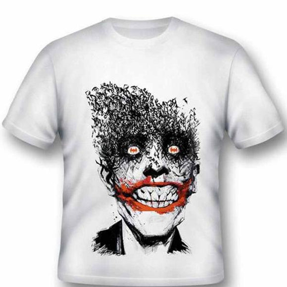 T-Shirt - Batman - Joker By Jock (White)