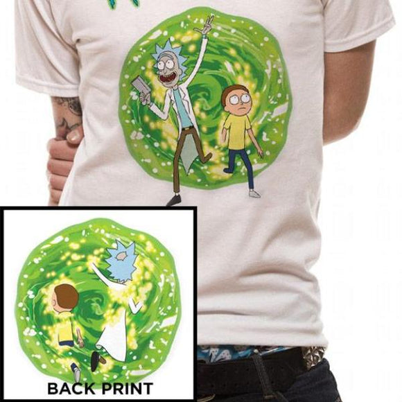 T-Shirt - Rick & Morty - Portal (2 Prints)