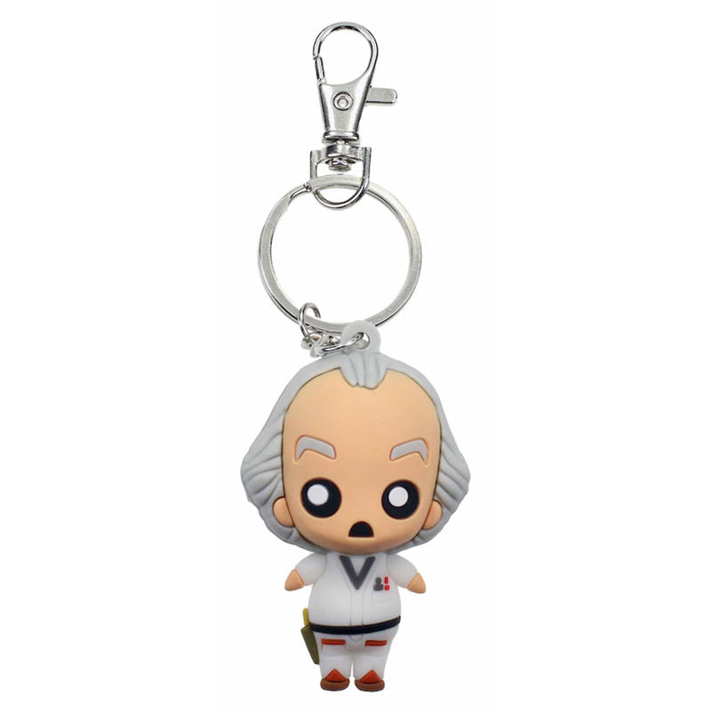 Portachiavi - Back To The Future - Doc Brown Rubber Keychain