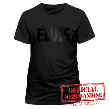 T-shirt - Elvis Presley - Black On Black Logo