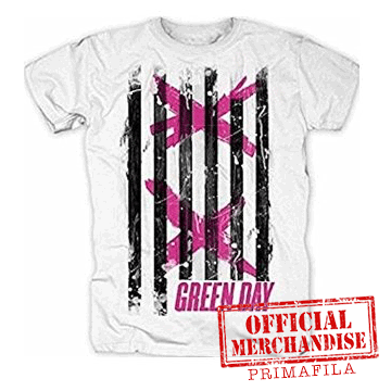 T-Shirt - Green Day - Double X Stripes