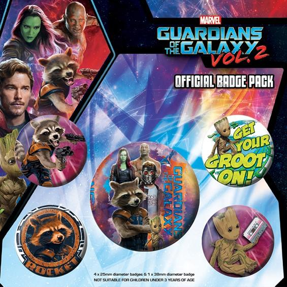 Spille - Guardians Of The Galaxy 2 - Rocket & Groot (Pin Badge Pack)