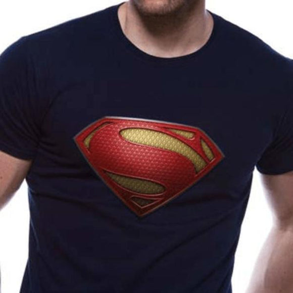 T-Shirt - Superman - Man Of Steel - Textured Logo
