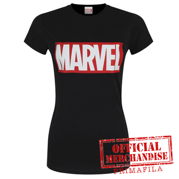 T-Shirt - Marvel - Logo Black