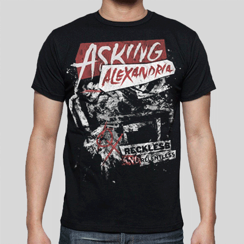T-Shirt - Asking Alexandria - Reckless