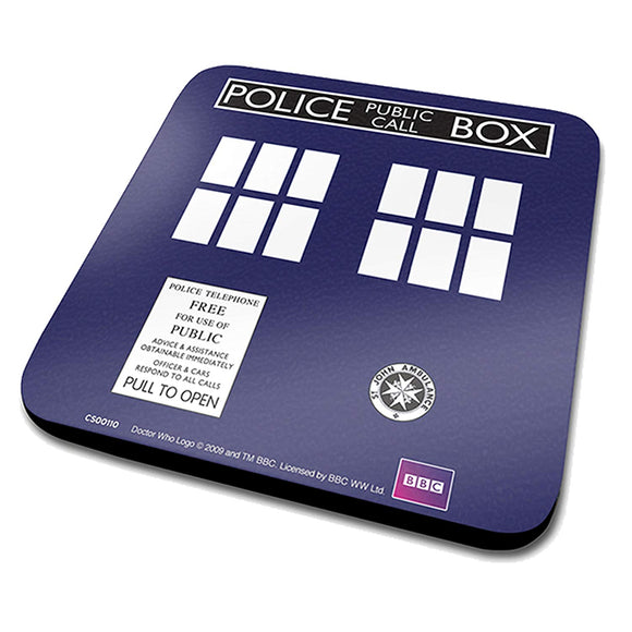 Sottobicchiere - Doctor Who - Tardis