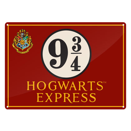 Targa Metallica - Harry Potter - Hogwarts Express