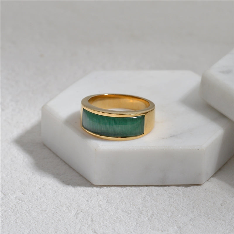 Maeve's Favorite Rings - Narrow Edition Green Ring No. 7 - Narrow Green Ring No. 8