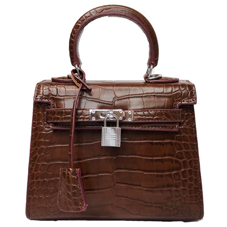 Sac Kelly Fini Croco Multi