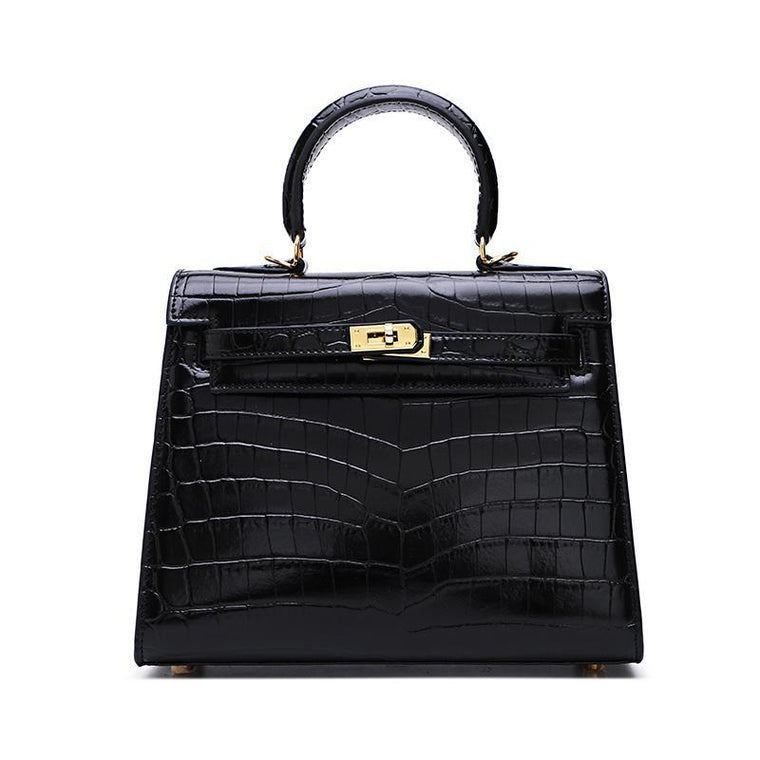 Sac Kelly Croco en Cuir