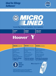 DVC Microlined Vacuum Bags 3pk for Hoover Type Y