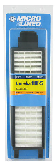 DVC Microlined HEPA Filter for Eureka Style HF-5, Series 5700, 5800
