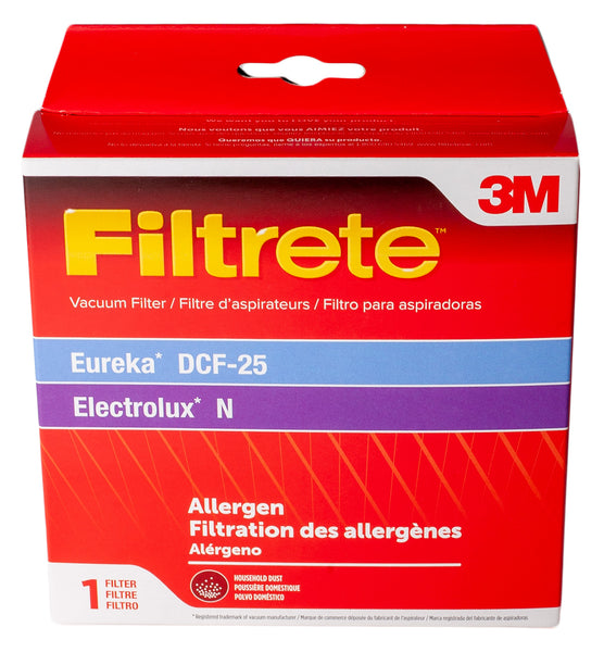 3M Filtrete Foam Filter for Eureka & Electrolux Upright Vacuums, Style N, DCF-25, Replaces 82982-5