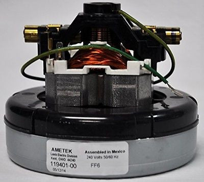 Ametek Lamb 240 Volt, 5.7 Inch Diameter, 1 Stage, Through Flow Motor 119401-00