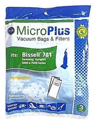 Green Klean MicroPlus Vacuum Bags - Bissell 7&1 - w/ Allergy Shield and 100% ...