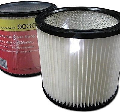 Green Klean Shop-vac Multi-fit Pleated Cartridge Filter Fits Most Shop Vac® Wet/Dry