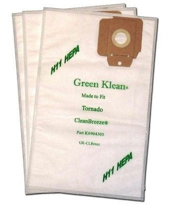 Green Klean K6904305 Tornado CV30 and CV38 H11 Hepa Replacement Vacuum Bags